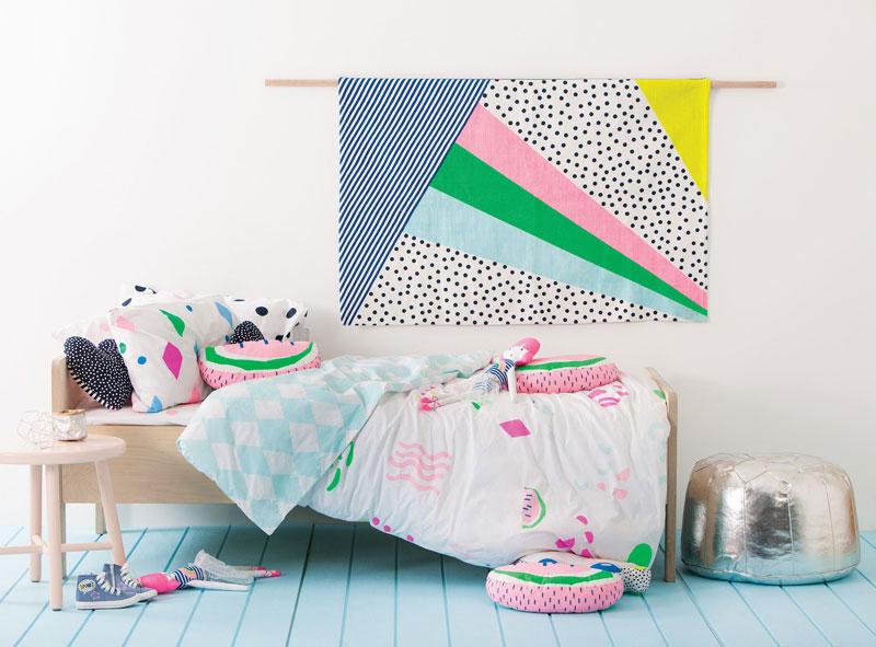 80's inspired childrens room