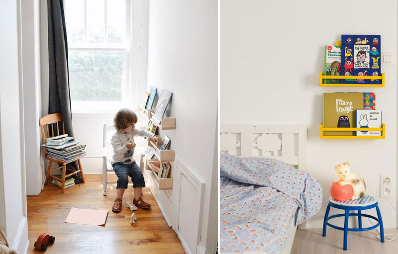practical bookshelves for kids
