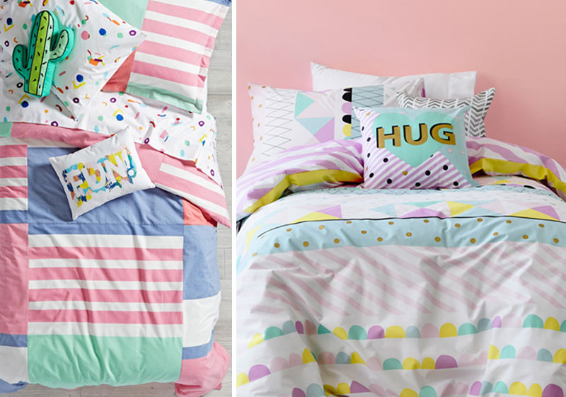 80's style kids bedding