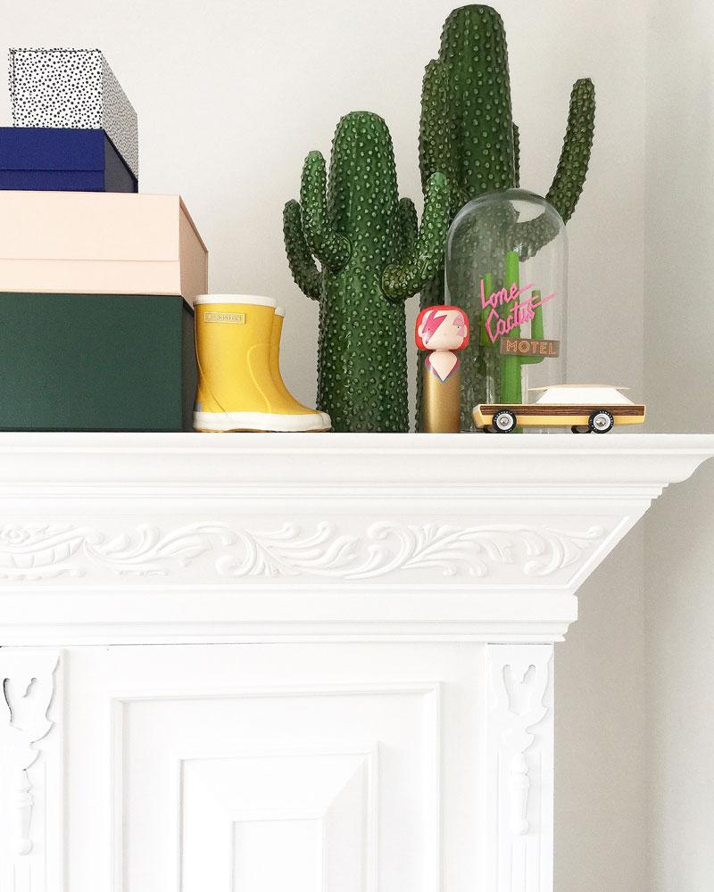 green cactus ceramic decor