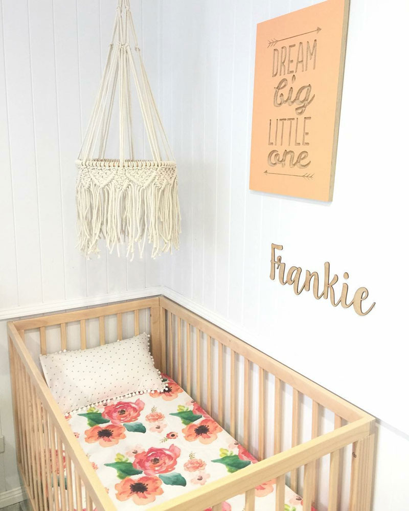 macramé nursery mobile