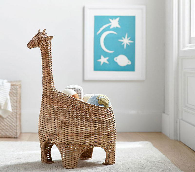 animal decor in rattan