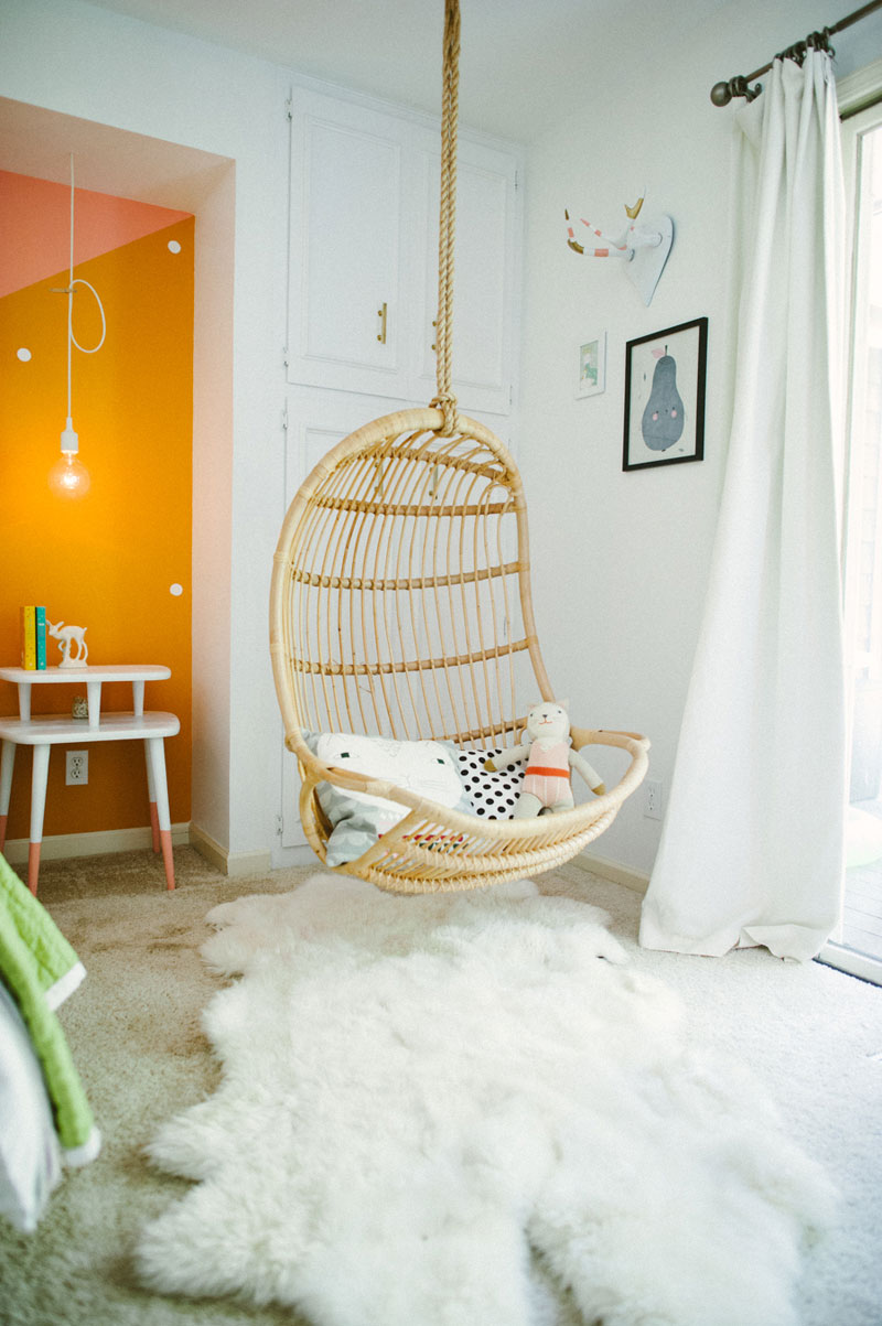 rocking hanging rattan chair