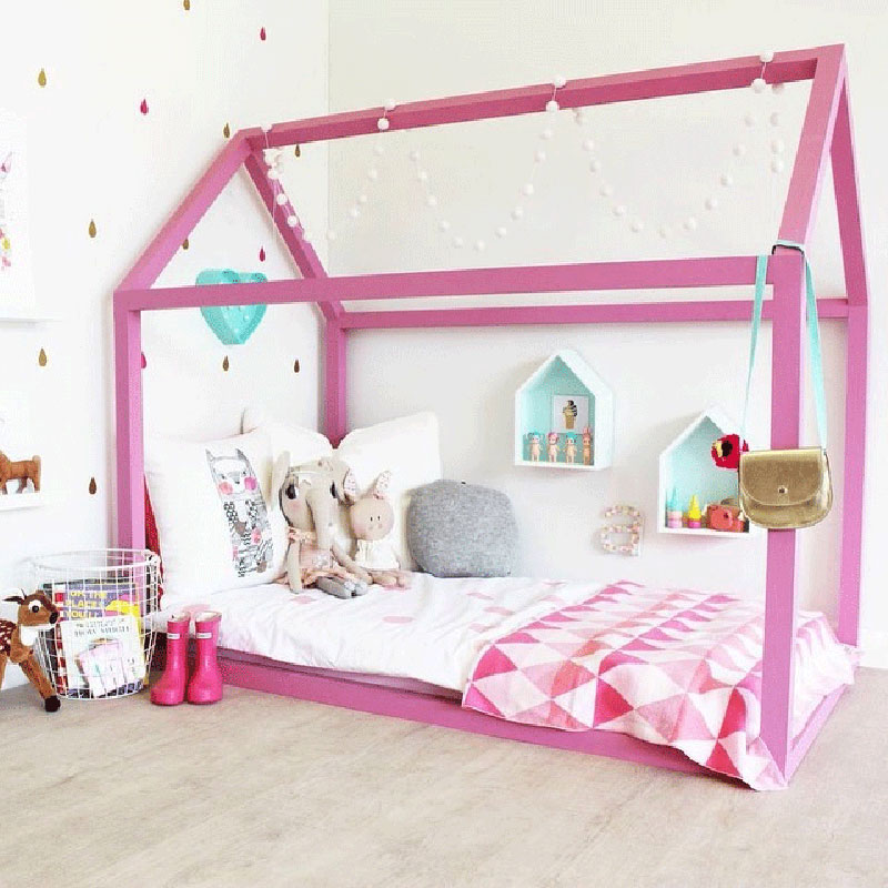 pink kids housebed