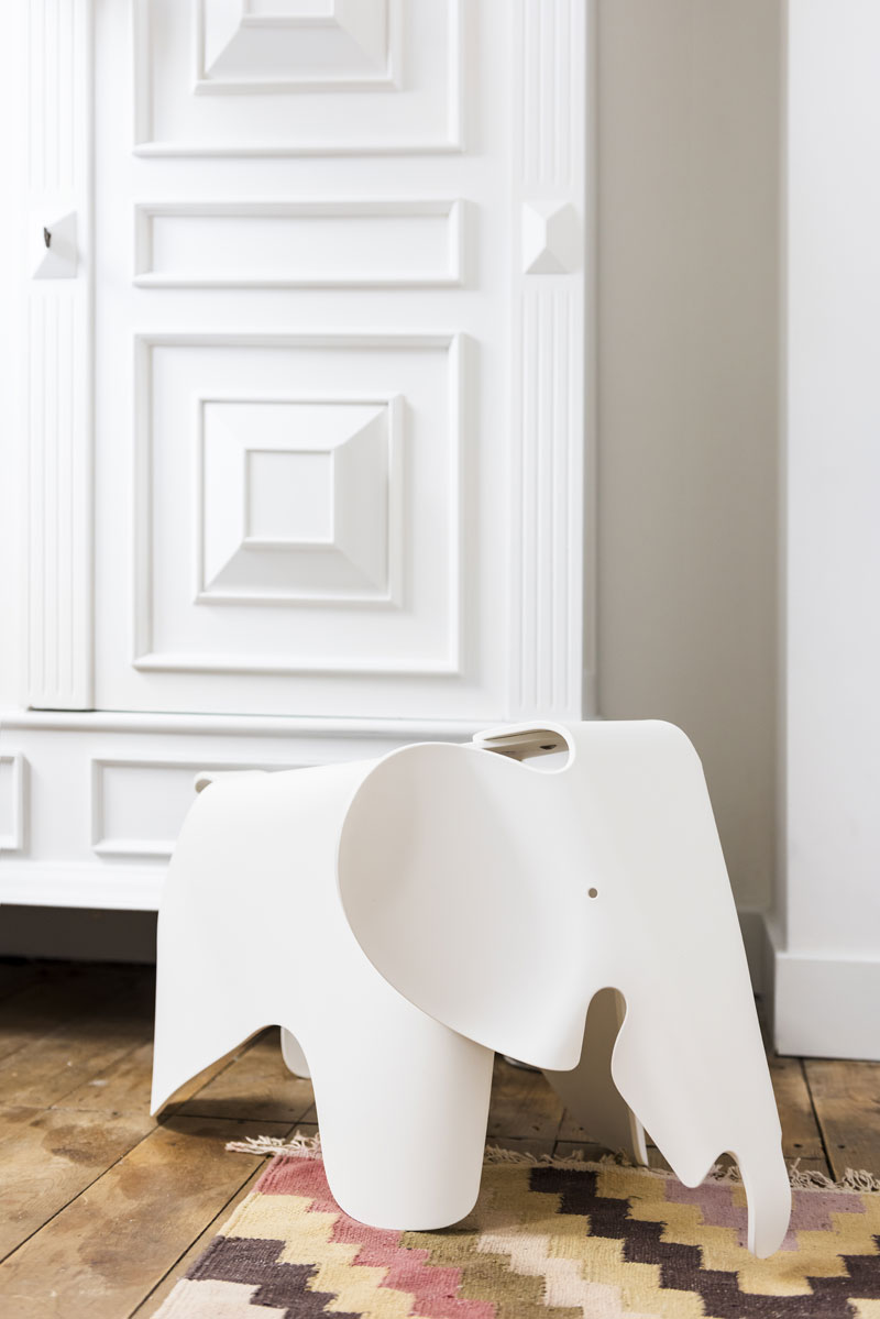 eames white elephant kids room