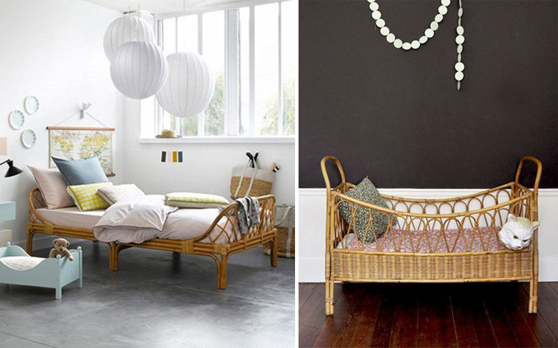 rattan wicker beds