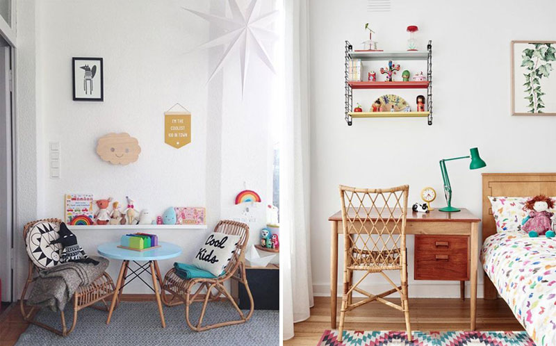 rattan kids chairs