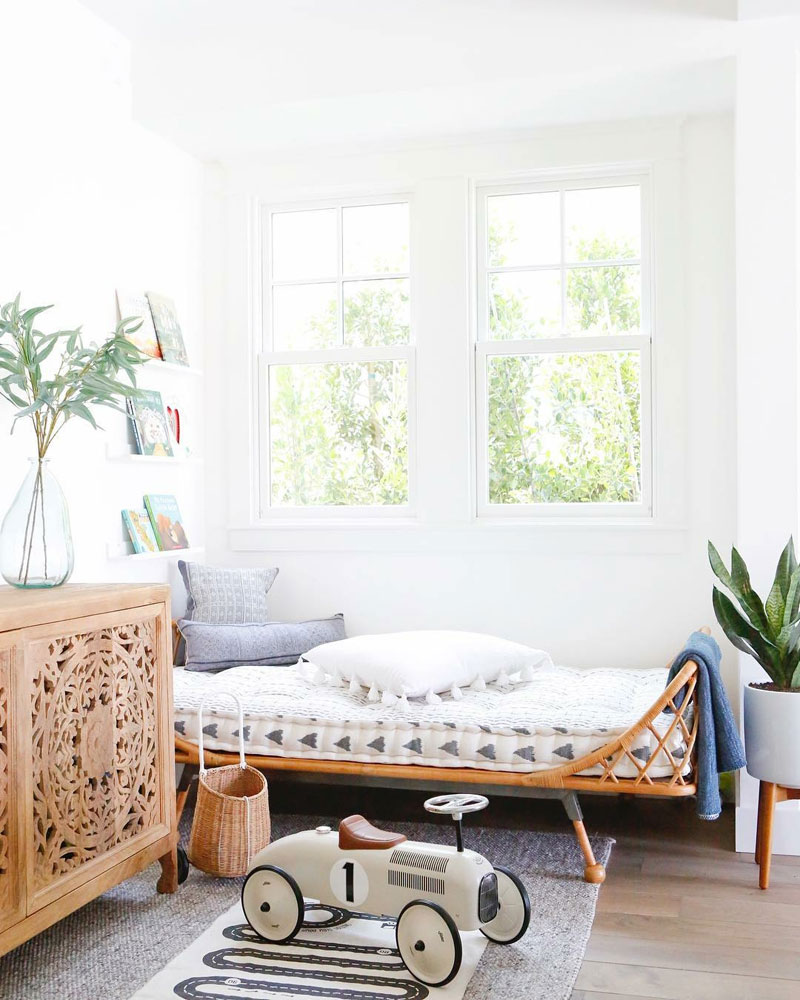 boho interior kids room