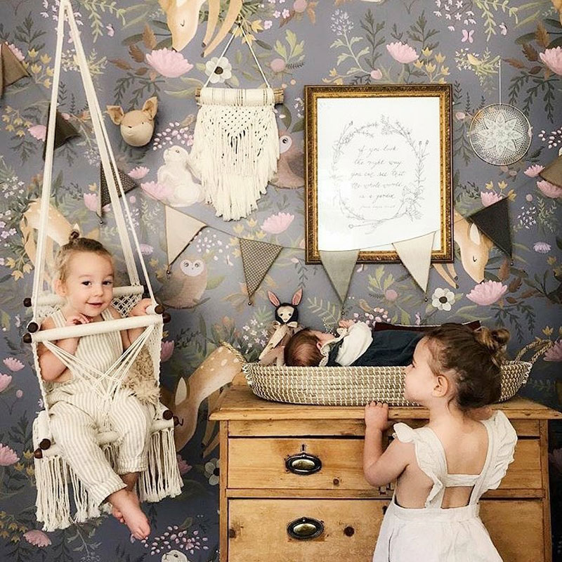 macramé swing for childrens room