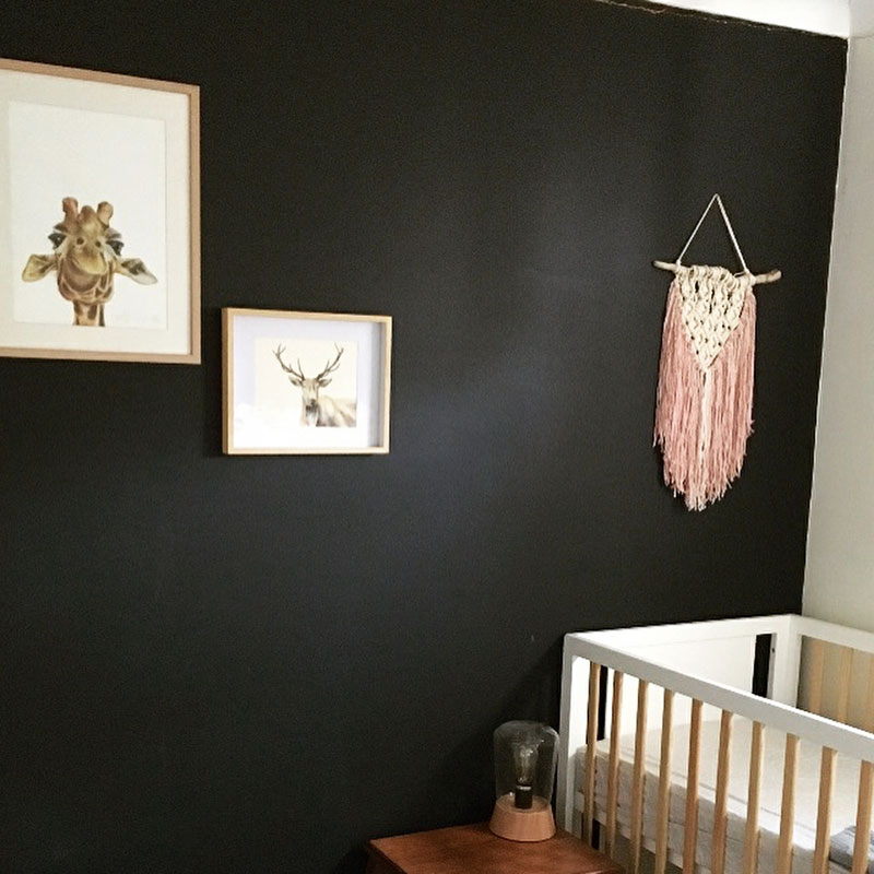 macramé wall hanging for nursery