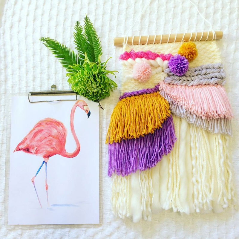 colourful macramé for girls room