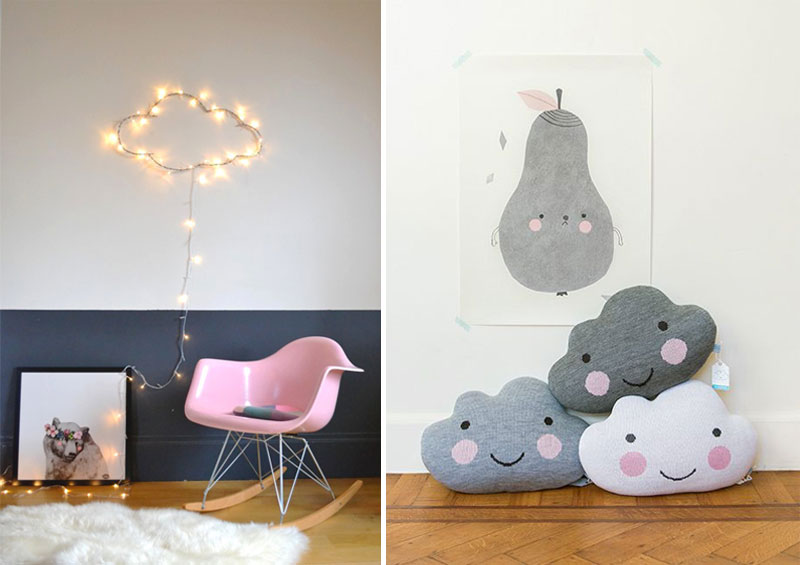 cloud décor kids rooms