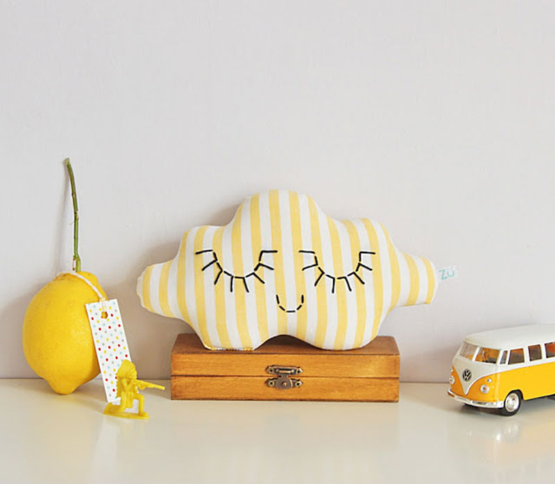 yellow cloud cushion