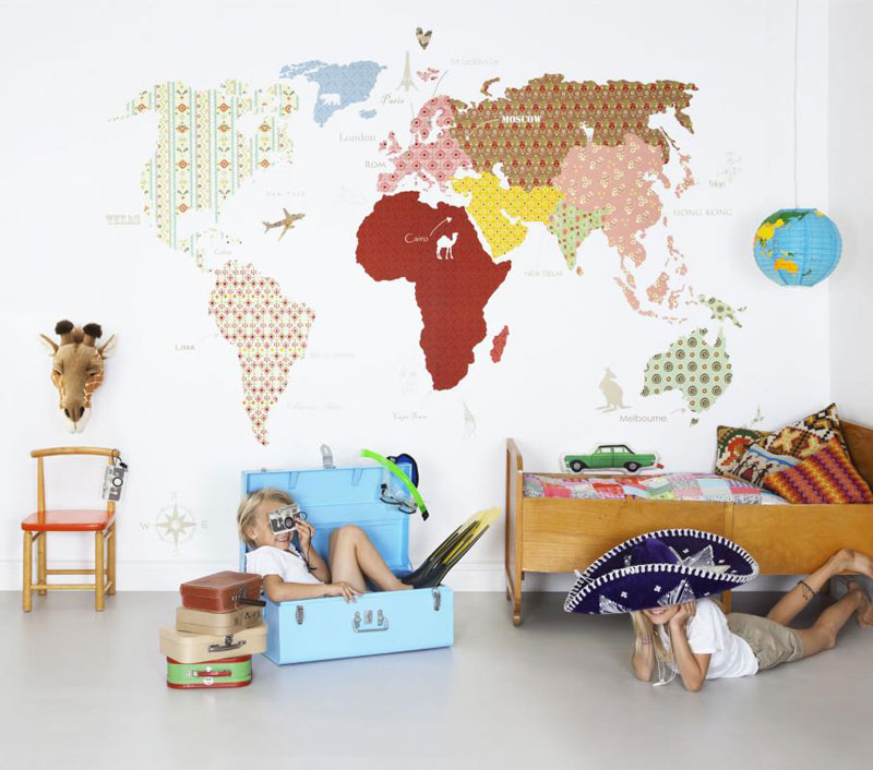 world map decals