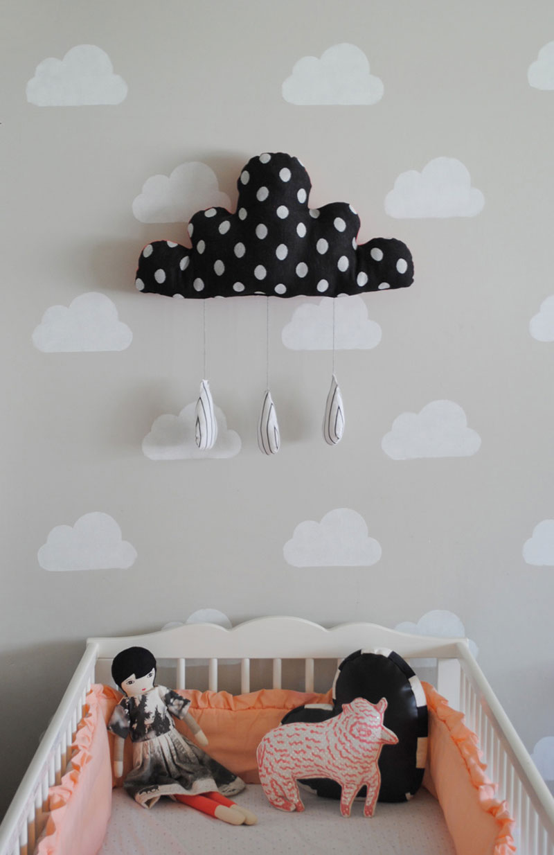 cloud nursery décor