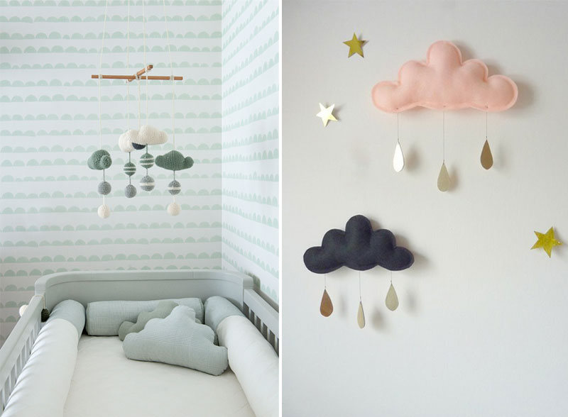 cloud mobile baby room