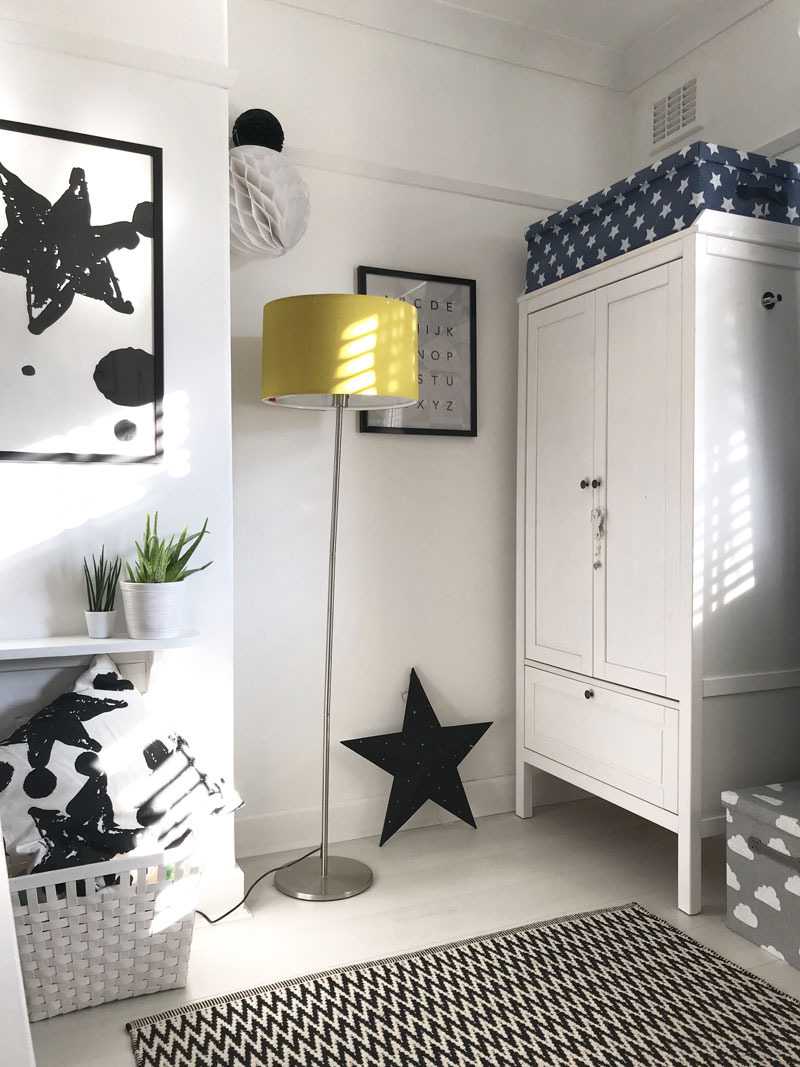 kid's room decorated with ikea