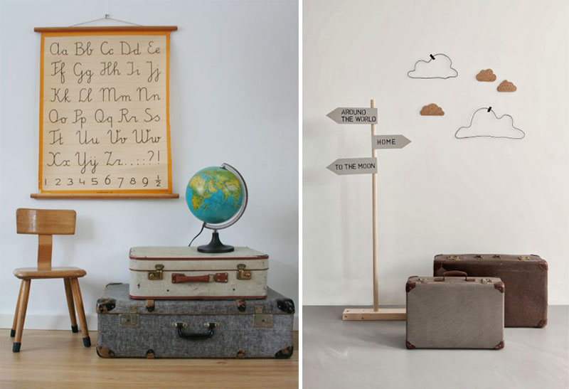 travel inspired kids rooms