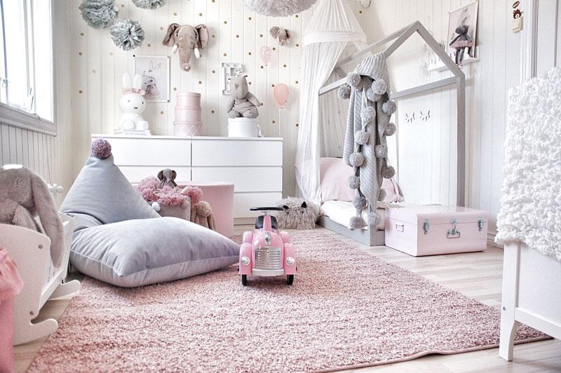 pink kids rug