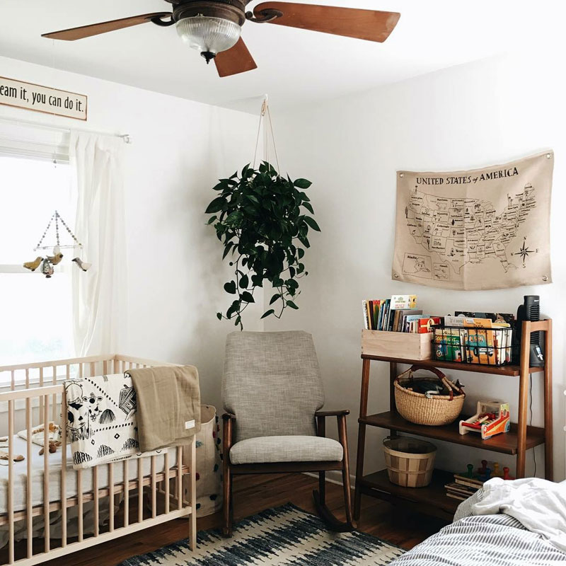 neutral gender baby nursery room
