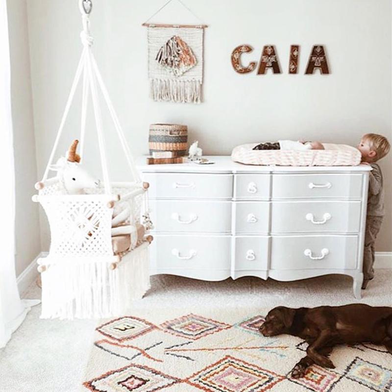 morrocan style nursery rug