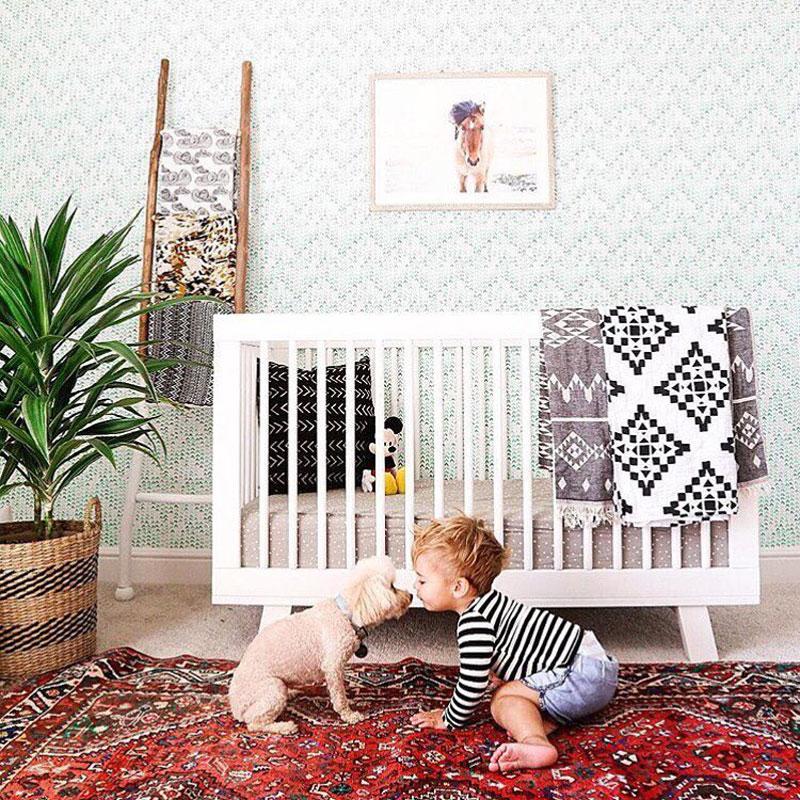 boho style babyroom