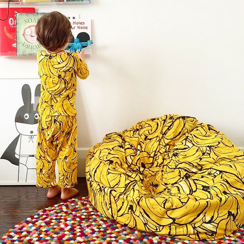 fruity banana bean bag