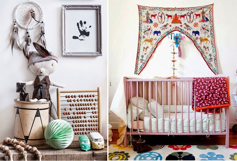 boho kids décor