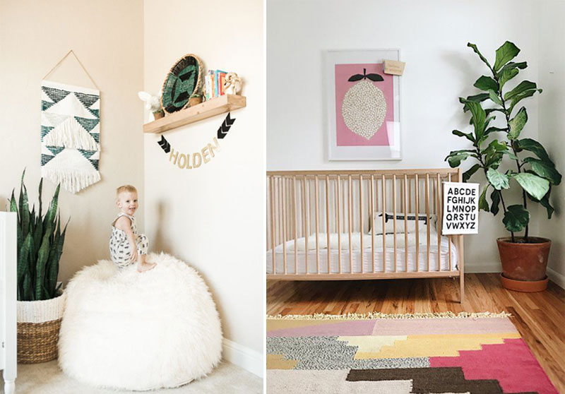 greenery in baby nursery rooms