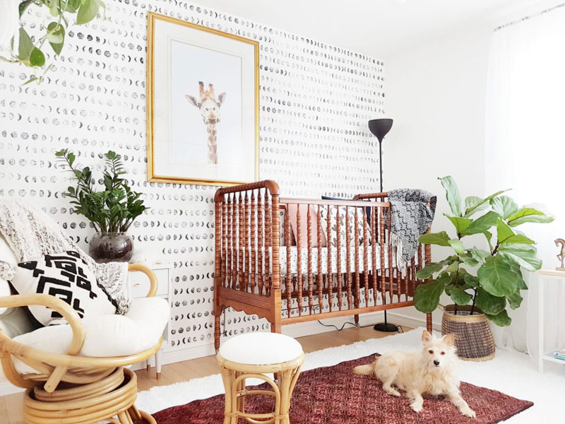 ethic style baby nursery room