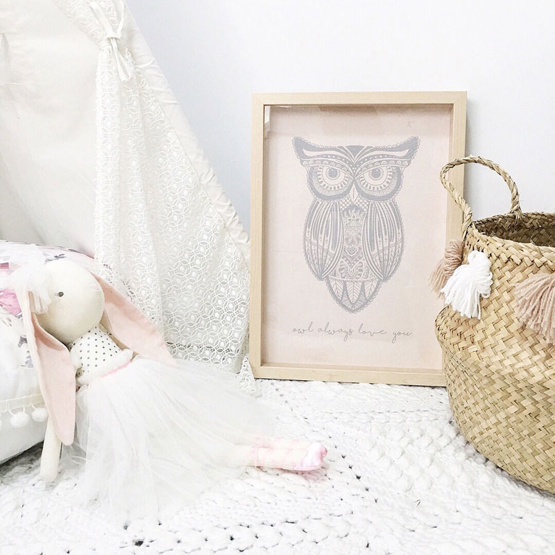 owl poster for nursery