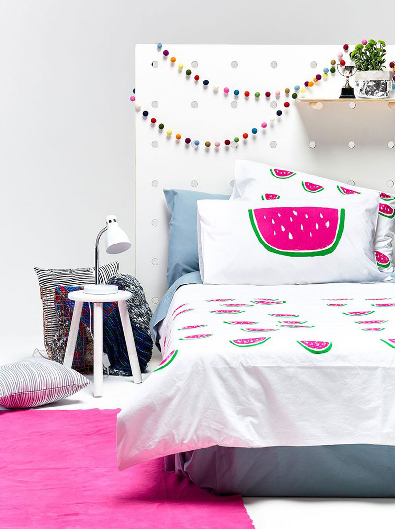 pillow and duvet cover watermelon