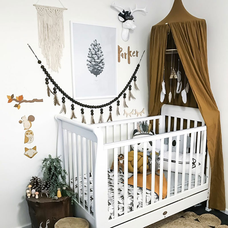 Baby Nursery Design Ideas And Inspiration: Boho Baby Nursery Room Inspiration By Kids Interiors