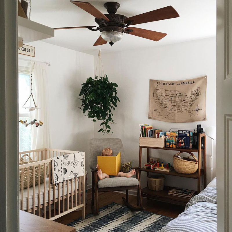 boheme chic nursery room