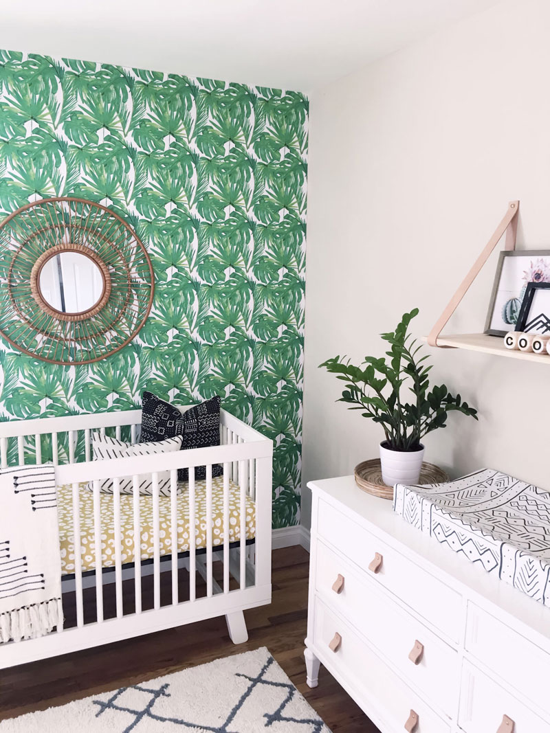 green nursery wallpaper