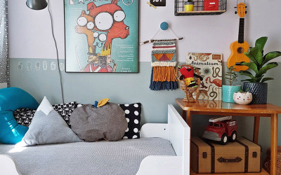 LEONARD'S MODERN ROOM WITH A VINTAGE VIBE