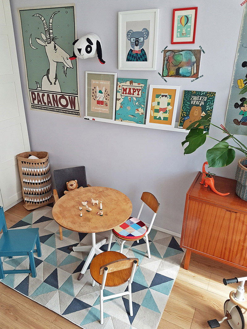 play area in a kid's room
