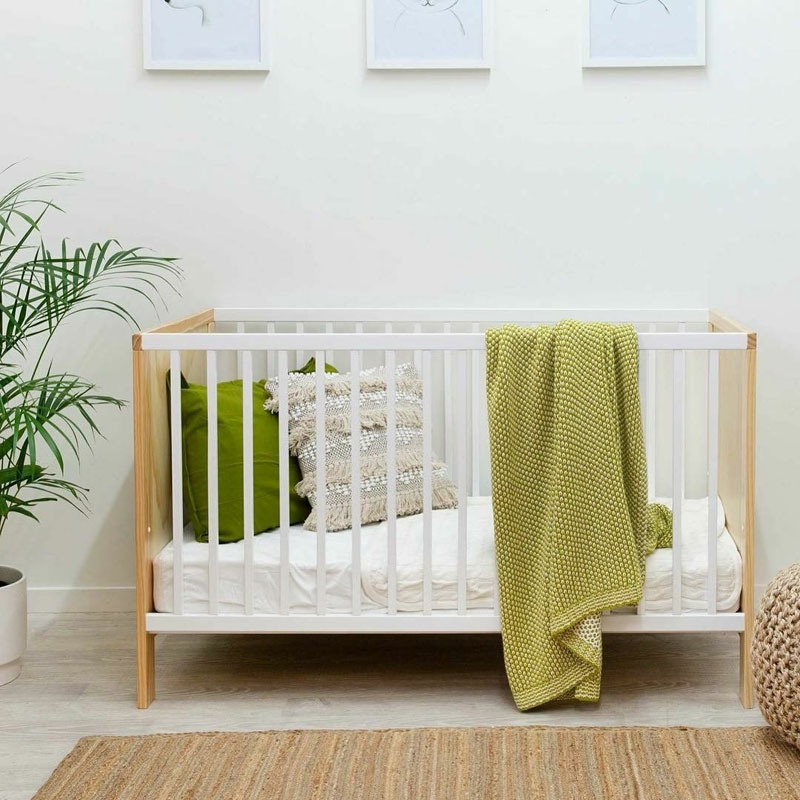 green nursery blanket