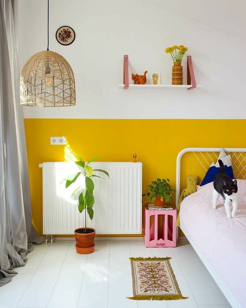 yellow in kid's room psychology