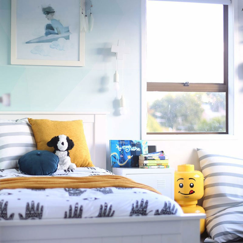 yellow and grey kids rooms