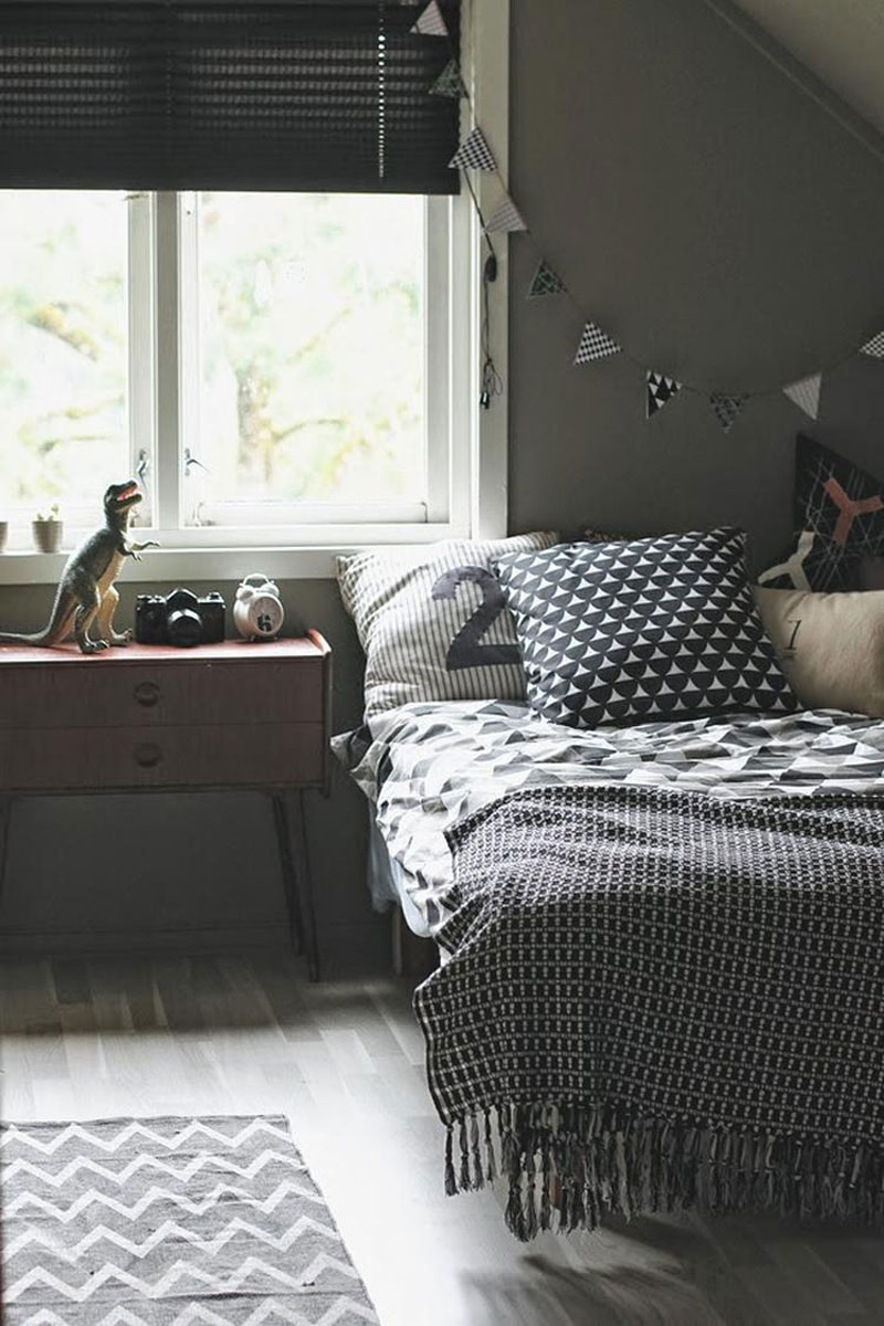 nordic style boy's room