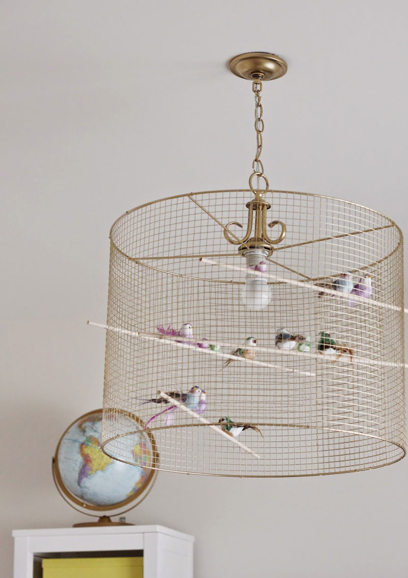 bird cage ceiling lamp