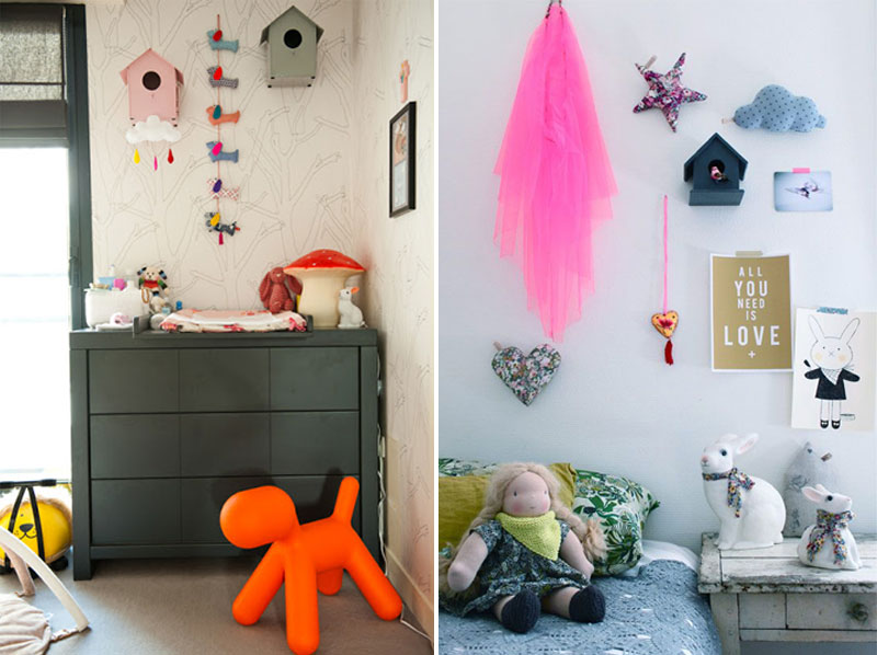 birdhouse décor for childrens rooms