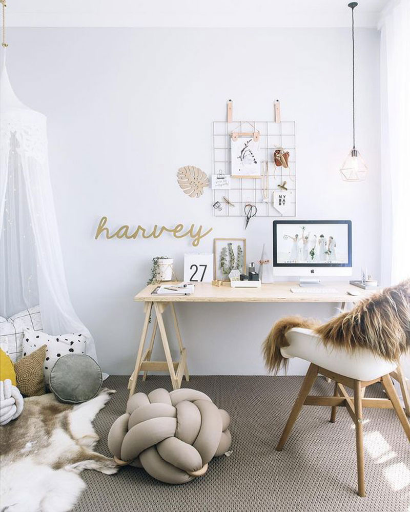 teenage girl's study room