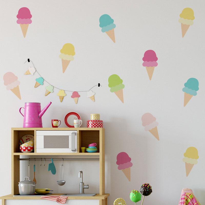 icecream wall stickers