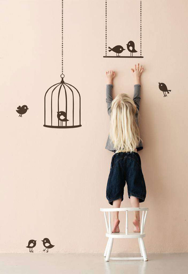 Fermliving bird wall decals stickers