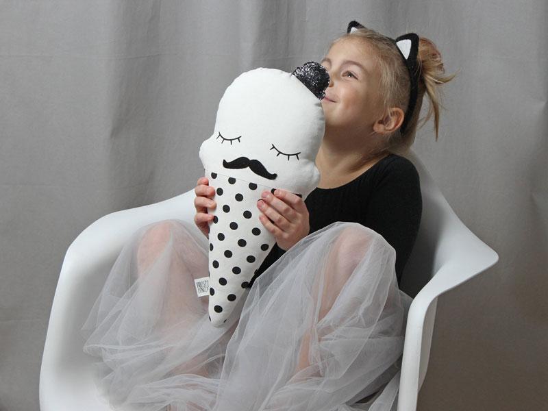moustache icecream pillow