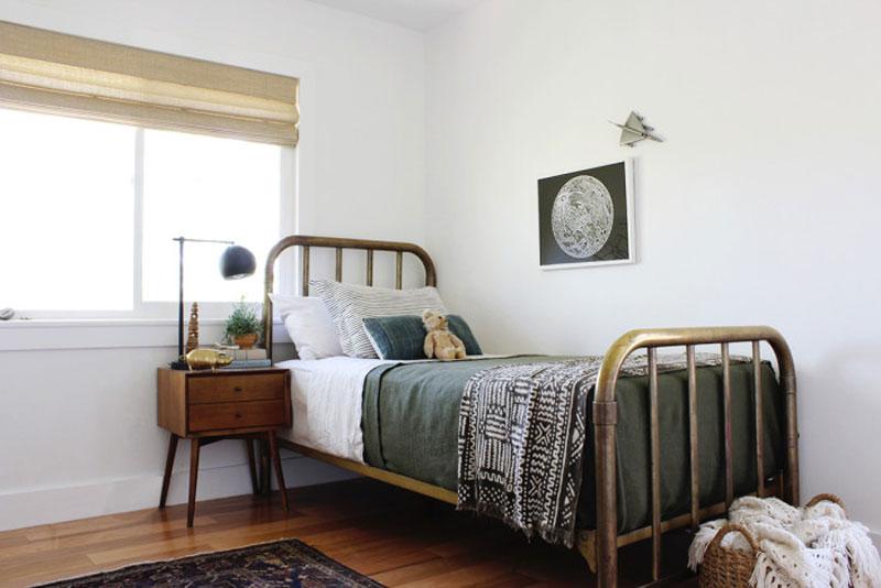 scandinavian style boy's room