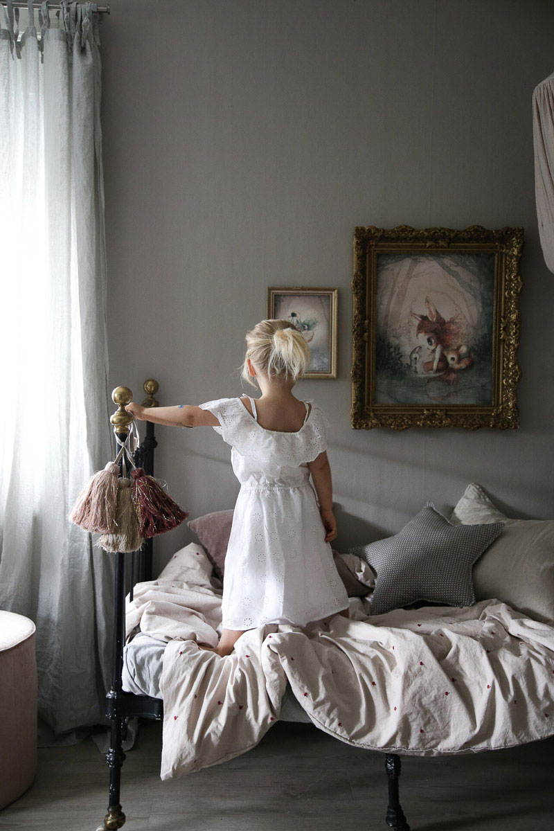linen kids bedding