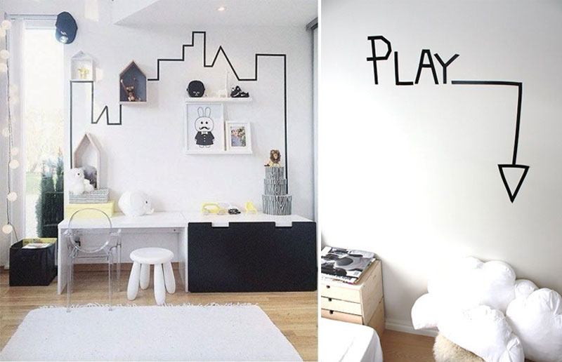 wall diy ideas kids rooms